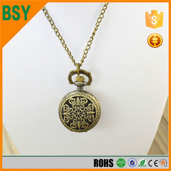 BoShiYa Fashion Silver cute compass watch robot necklace