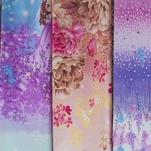 100% Polyester Microfiber Flower Design Printing Fabric for Bedding Set