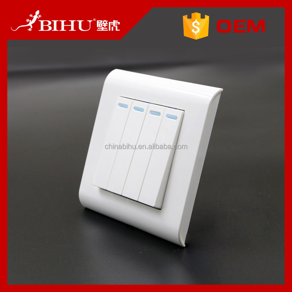 best selling products smart home auto headlight switch 4 gang 1 way wall switch socket