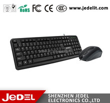 Stock wired usb keyboard and mouse combo for laptop notebook