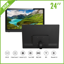 cheap wall mount quad core wifi bluetooth 24 inch android tablet usb driver