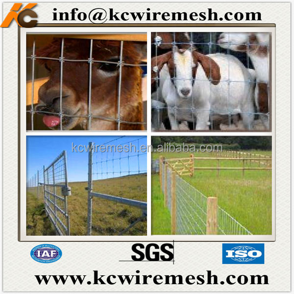 Galvanized Metal Hinge Joint Goat Farm Fence