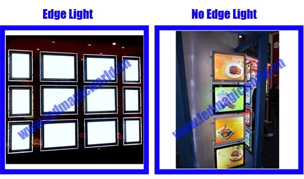 Professional Real Estate Cable Hanging Poster Pocket LED Window Front Display Signs