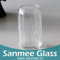 352ml 12.5oz Drinking Glass Cup With Embossed Logo For Carlsberg