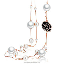 Equisite long jewelry wholesale latest design pearl necklace