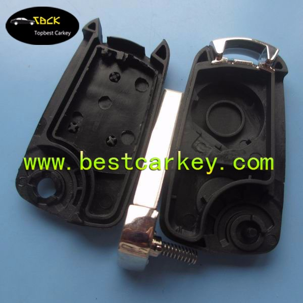 Alibaba Recommend 3 buttonscar key blanks HU100 blade key shell car key cover