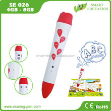 Hot sale in Brazil Wizard kid reading pen,Adopt OID printing technology to learn English Russian Spanish Turkish