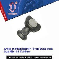 Grade 10.9 hub bolt for Toyota Dyna truck