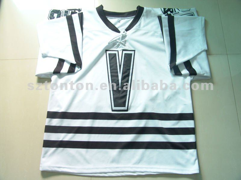 2012 Customized 100% Polyester Hockey Jersey