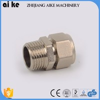wholesale good quality brass pipe fitting with pex al pex multilayer pipe pipe fitting compression tee brass ferrule tube fitti