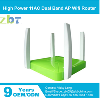 High Power 11AC Dual Band broadband wireless router with poe