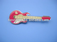 hard enamel guitar shape badge emblem