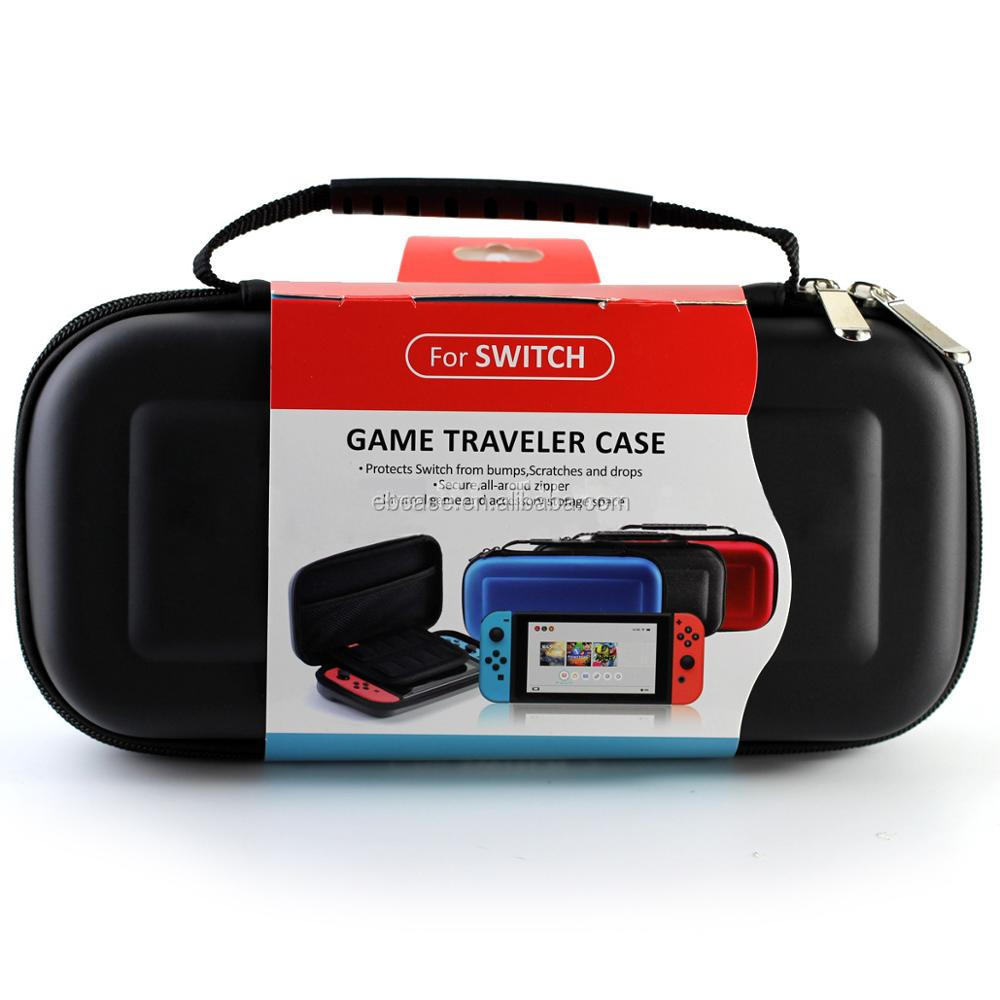 For Nintendo switch hard EVA Case with 19 Game Card and 2 Micro SD Card Holders
