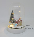 High quality LED lighting glass domes with Christmas decor