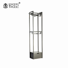Good quality black retail durable garments store hanging display fixtures