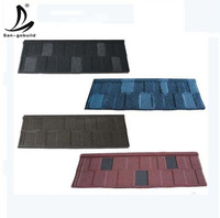San-gobuild Roofing Solution Roofing Tile Stone Coated Metal red color coated long span aluminium roofing sheet