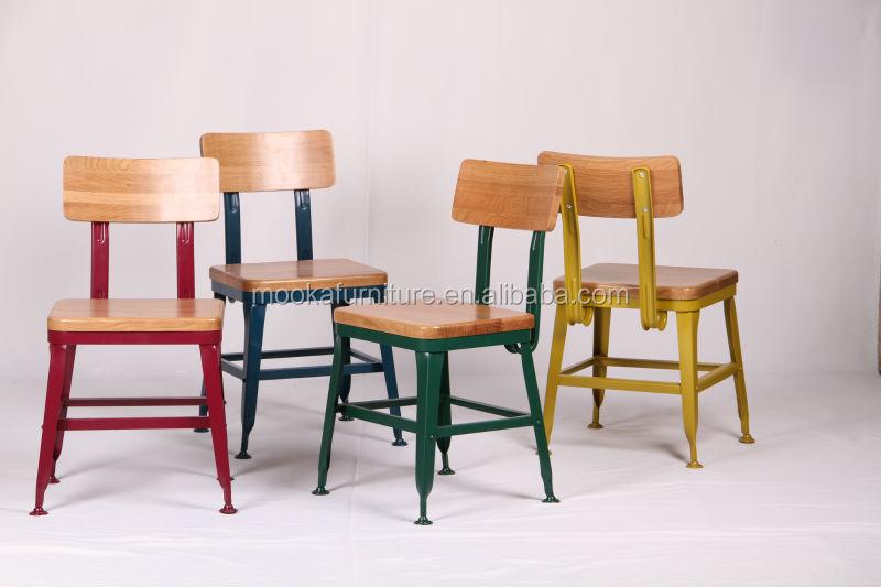 Metal Chair/Wooden Seat Chair/Lyon Industrial Chair/Lyon Wooden ...