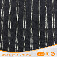 100% Cotton black white stripe yard dyed fabric for garment bag