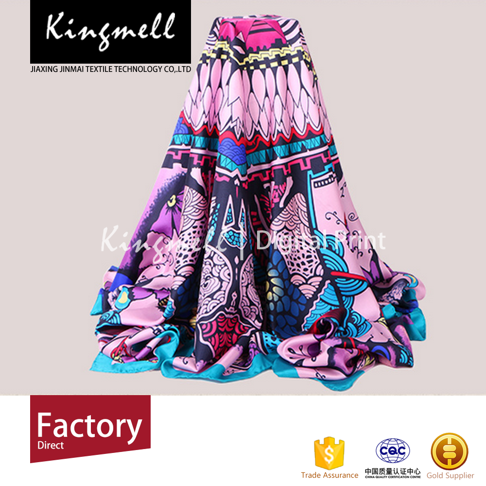 China Manufacturer Custom Made Available Sample Winter Silk Scarves