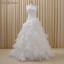 RSM6624 ball gown wedding dress bridal gown sweetheart neck lace white wedding saree