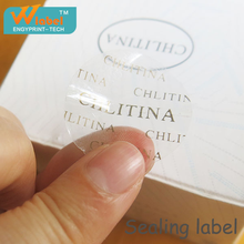 Security label authenticate with water, tamper evident security seal sticker, open void label seal
