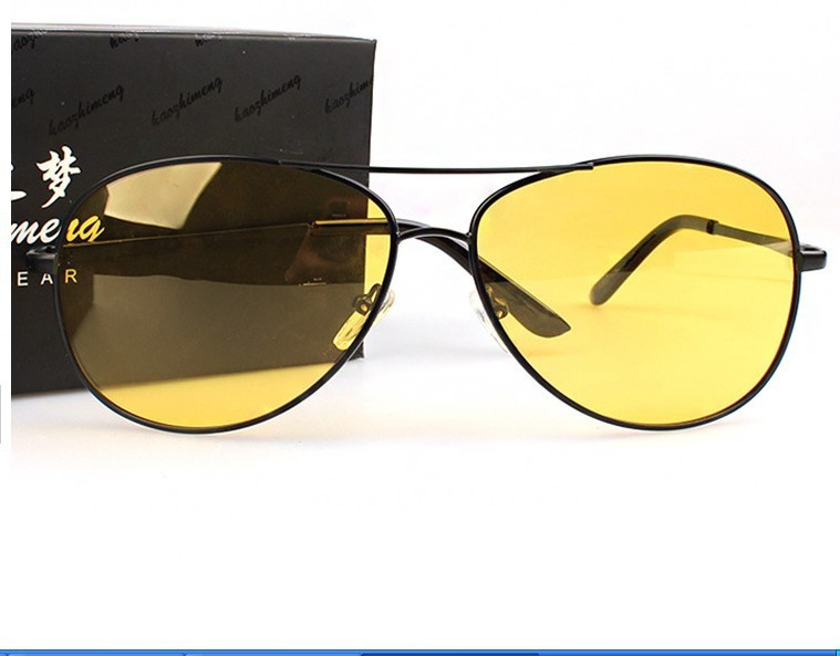 Night Vision Sunglasses Polarized Men Sun Glasses Metal Yellow Driving Eyewear Driver Eyeglasses For Male Driver