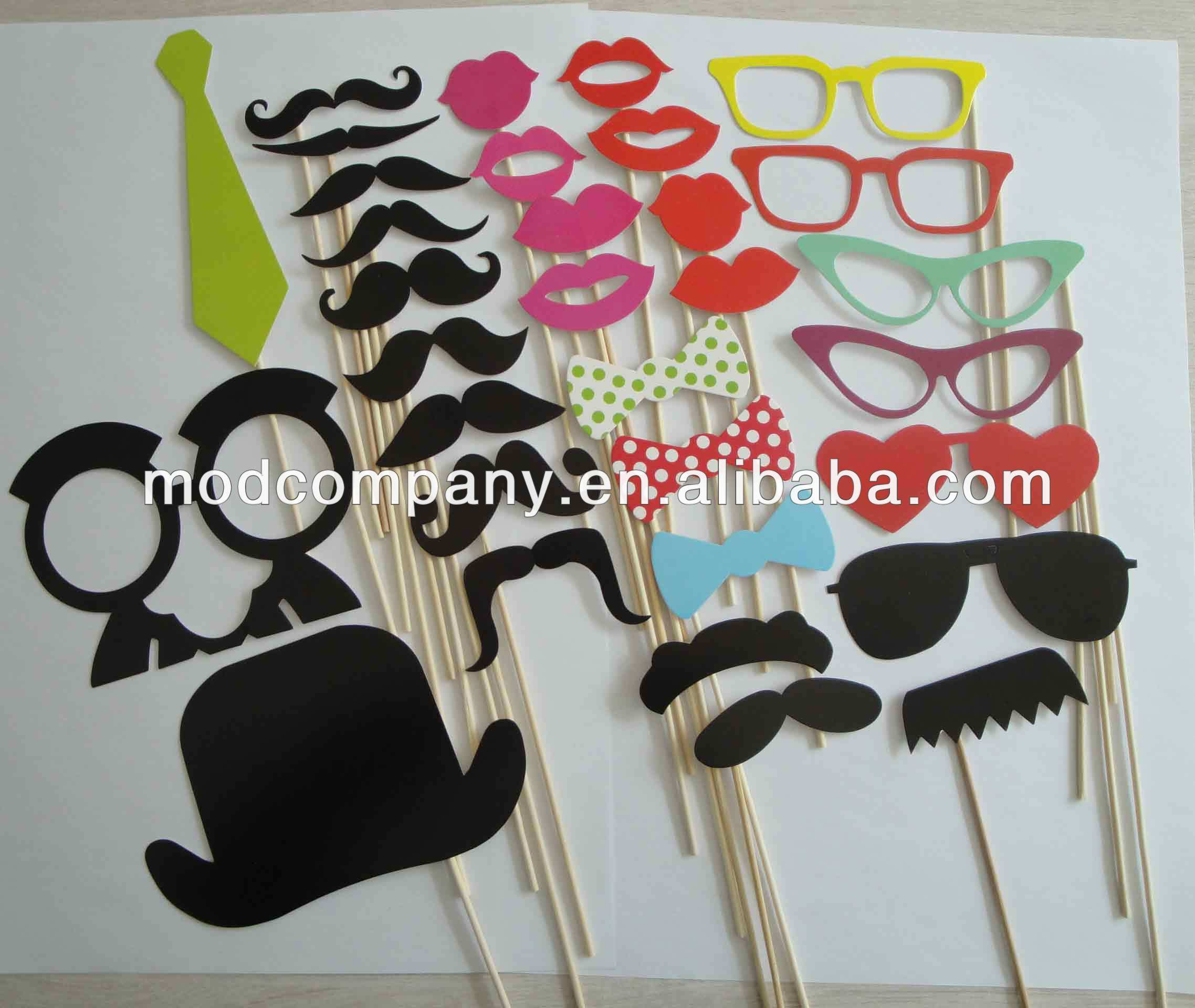 small order allowed 2014 party decoration set-32pcs set party photo props