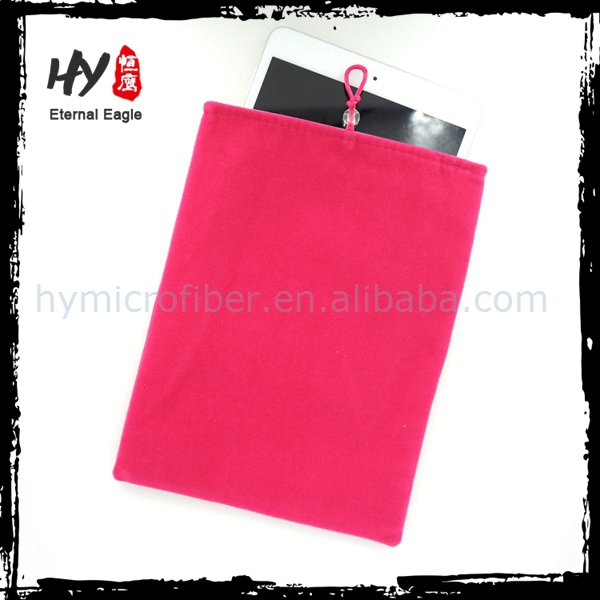 Hot selling ipad packaging bag, printed ipad pouch, microfiber pouch for ipad