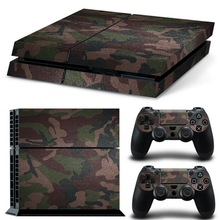 Newest !!Hot Sale New Camouflag Decal Cover Skin Stickers For <strong>Playstation</strong> 4 For PS4 Console With 2 Controllers