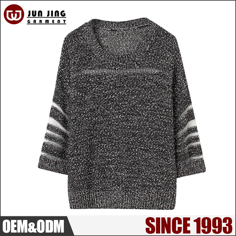 Custom Knited Long sleeve woman sweater girls sweater designs for women
