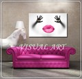 Hot Sexy Woman Red Lips Painting For Decor