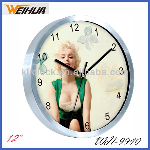 Metal Wall Clock WH-9940 With Beautiful Design Dial 12 Inch Metal Wal Clock