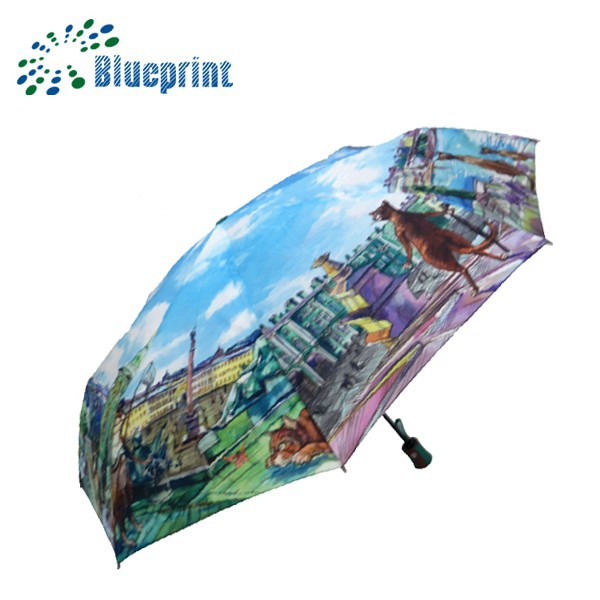 Portable full print umbrella promotional gifts for teenagers