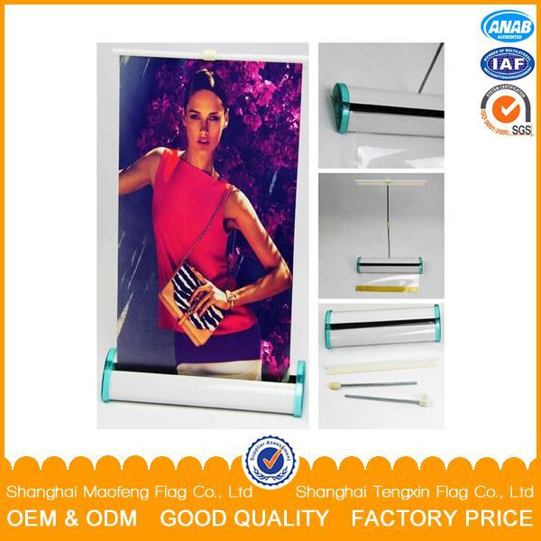 2016 new advertising product display stand roll up banner poster board