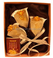 24k gold foil rose promotion gift hot sale in valentine's day