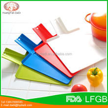 New designed flexible and foldable polypropylene plastic cutting board for kitchen