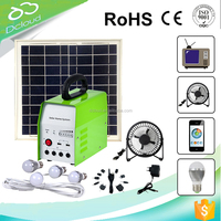 High power 10w complete solar lighting system for indoor