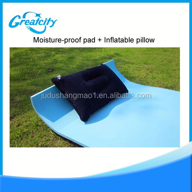 high quality flocking wedge inflatable backrest beach backrest pillow foldable triangle backrest back suport readig pillow