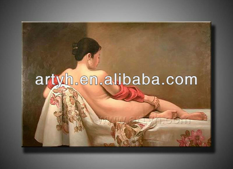 High Quality oil painting of nude sexy girl
