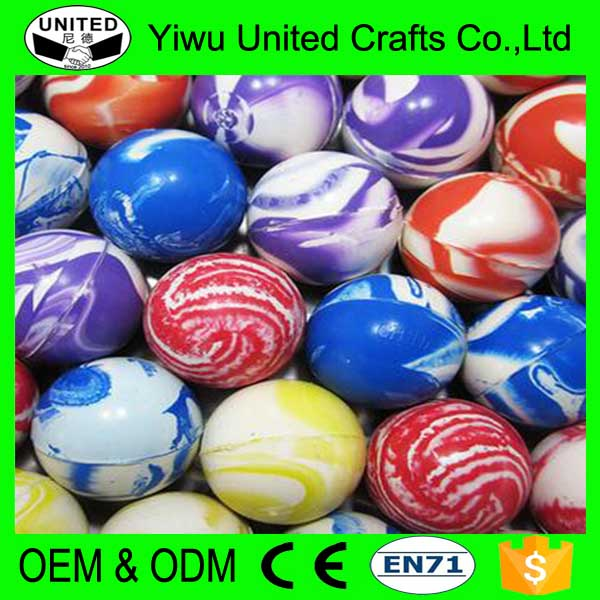 Wholesale hot selling promotional 32mm rubber Custom Bouncy Balls