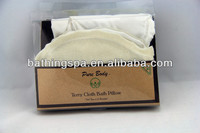 Hot selling terry cloth bath pillow