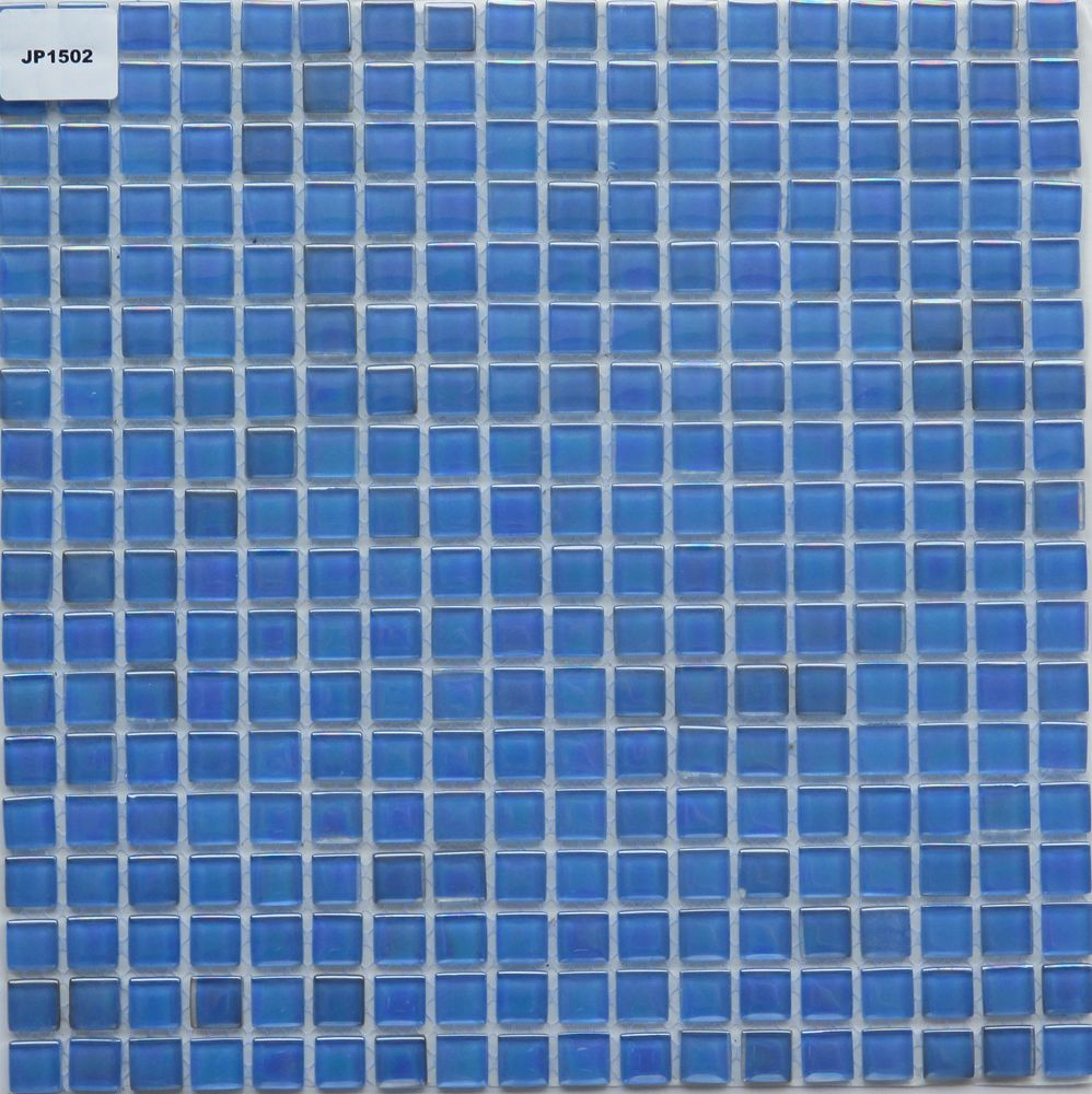 2017 hot sell CE approved glazed ceramic swimming pool tile blue mosaic