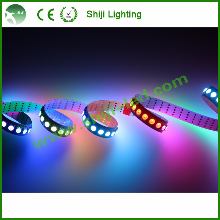 DC5V apa <strong>102</strong>/APA102C smd5050 144leds/m addressable 12mm pcb width rgb led pixel strip lighting