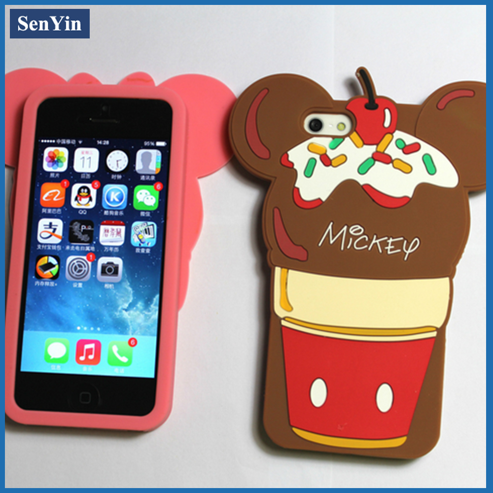 High Quality Fashionable 3D Animal Shape Cell Phone Cover For Nokia E5