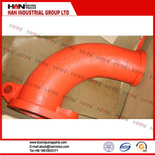 concrete pump spare parts / Twin Layer DN125 Concrete Pump carbon Steel Pipe Elbow / Bend
