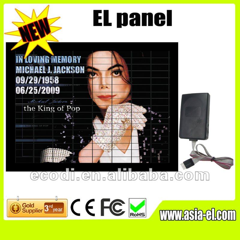 hotest ! newest ! The super bright sound activated led panel/tshirt el panel