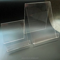 A4 A5 Acrylic Book Holder Easel Stand Lucite CD and DVD holder Clear Plexiglass Flyer Holder