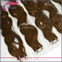 alibaba express brazilian curly tape hair extension