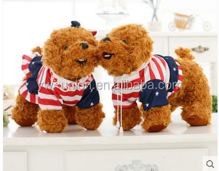 Custom dogs pull over the flag , Animals pull over flag stuffed dog toys