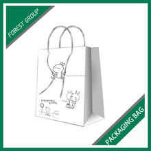 UNIQUE DESIGN ART PAPER DOLLS PACKING PAPER BAGS WITH CUSTOM PRINT AND HANDLES